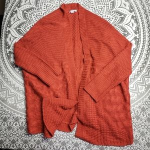 PASSPORTS ORANGE SLOUCH SWEATER LARGE CUTE KNIT